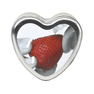 Earthly Body 4-In-1 Edible Heart Candle-Strawberry