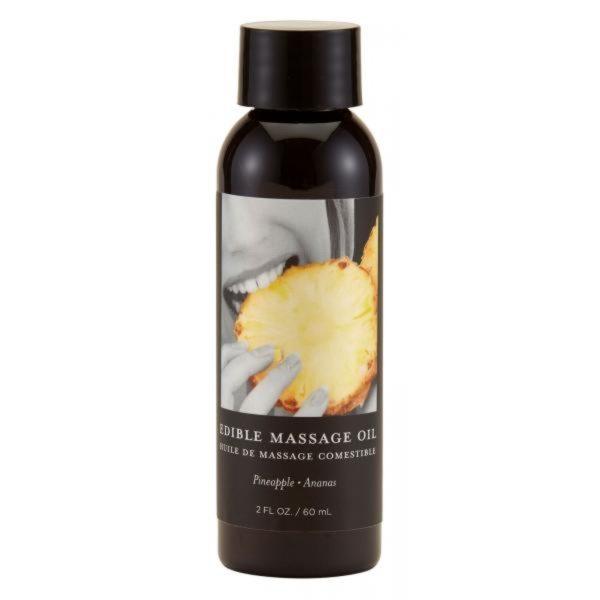 Earthly Body Edible Massage Oil Pineapple 2oz